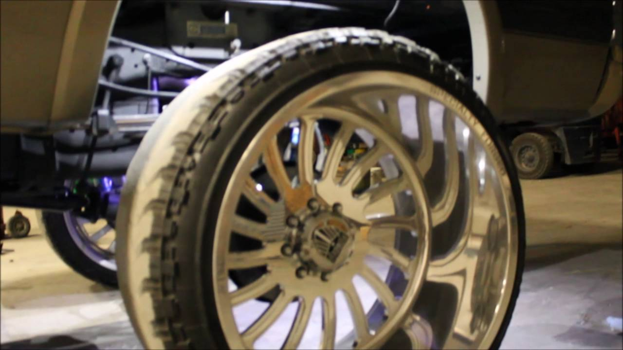 6 0 Powerstroke On 26x16 Specialty Forged Youtube
