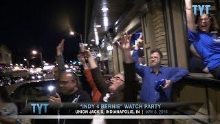 Bernie Sanders Supporters Celebrate Indiana Win