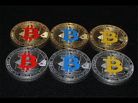 Gold How to buy Bitcoin Collectible BTC Cryptocurrency криптовалюта Как купить Биткоин AliExpress