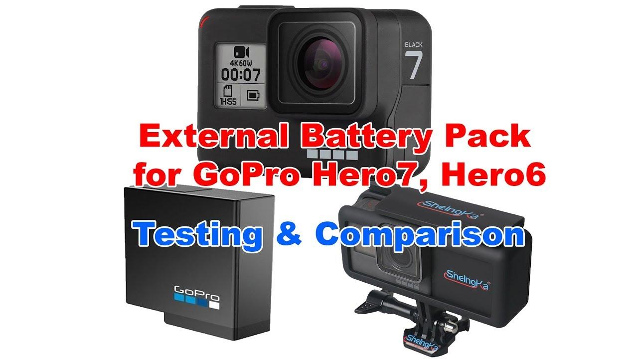 External Battery Pack For Gopro Hero7 Hero6 Testing Comparison Youtube
