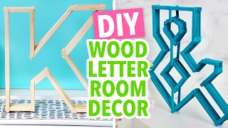 DIY Letters made from Coffee Stirrers - Easy Room Decor! - HGTV Handmade