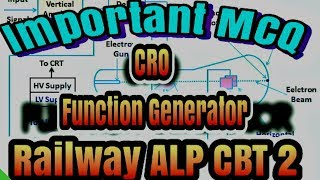 Important MCQ Of CRO Function Generator DSO