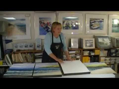 How To Mount A Watercolor Painting On Board Youtube