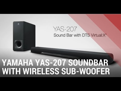 yamaha yas 207 soundbar with wireless subwoofer quick. Black Bedroom Furniture Sets. Home Design Ideas