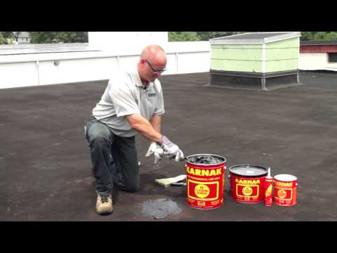 How to repair leaks permanently on flat roofs Karnak 19 Professional Grade Flashing Cement