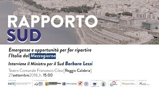 """Convegno """"RAPPORTO SUD   Emergenze e opportunità per far ripartire l'Italia dal Mezzogiorno"""""""