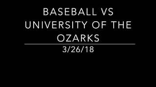 Baseball vs University of the Ozark