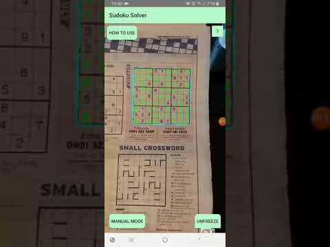 Sudoku Solver AR Camera Mobile App