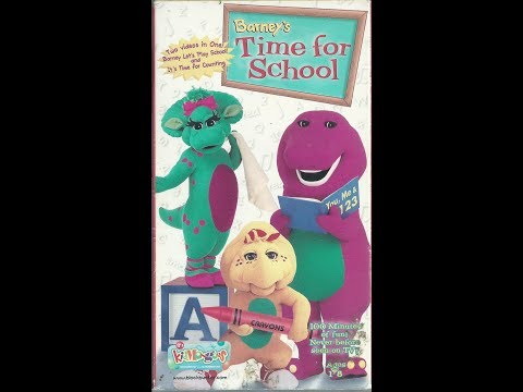 Barney's Time For School 1999 VHS