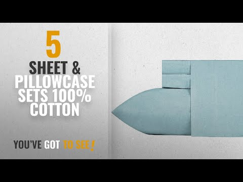 Top 10 Sheet & Pillowcase Sets 100% Cotton [2018]: 400 Thread Count 100% Cotton Sheet Set, Blue Twin
