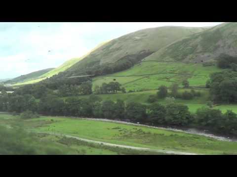Preston to Carlisle on a Virgin Pendolino through the Lake District. 21/08/2015