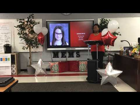McColl Elementary Middle School Virtual Awards Day 2019-2020