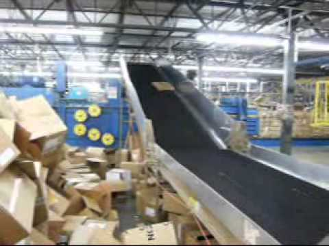 Used Trash Conveyor Convey Debris Cartons Paper To