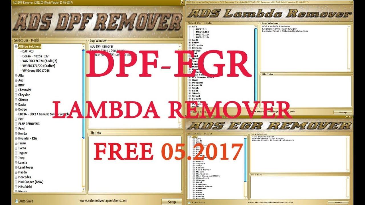 Professional ADS DPF EGR FLAPS LAMBDA DTC HOTSTART ADBLUE Remover FULL