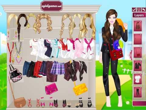 Dress Up Games Girls School Barbie Back To School Youtube