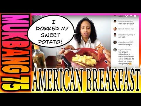 Mukbang American Breakfast