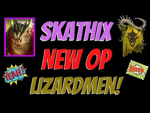 Skathix OP Lizardman Guide!  Raid Shadow Legends