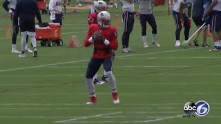 Cam Newton Looks SHARP In First Patriots Padded Practice