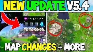 Fortnite: *NEW* UPDATE V5.4 CHANGES! Release Date! DUSTY RETURNING + TILTED TOWERS MAP CHANGES +MORE
