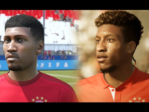 FIFA 17 vs FIFA 16 Bayern Munich Player Faces Comparison + Allianz Arena Stadium