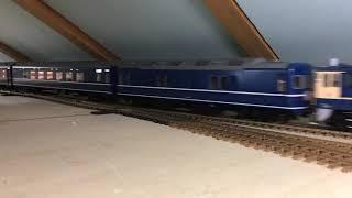 OJゲージ鉄道模型24系ブルートレイン