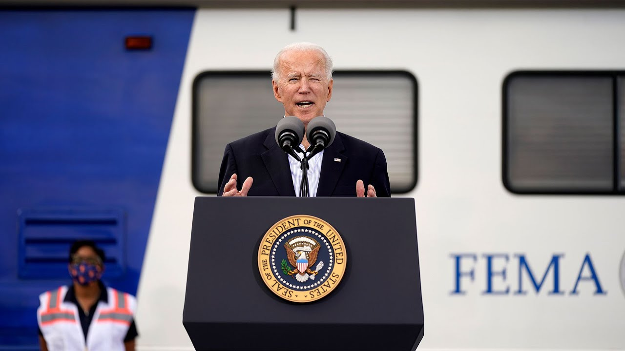 WATCH: Biden delivers remarks at Texas mass vaccination site