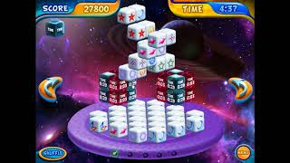 Mahjongg Dimensions Deluxe final level (Space-6, replay mode)