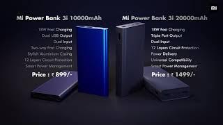 All-new #MiPowerBank3i 10000mAh & 20000mAh