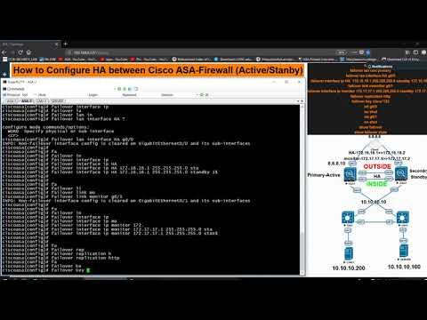 How to Configure HA between Cisco ASA-Firewall (Active/Stanby)