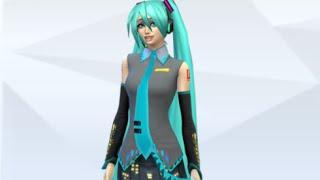 Хатсунэ Мику в Симс 4  Hatsune Miku In The Sims 4  CAS