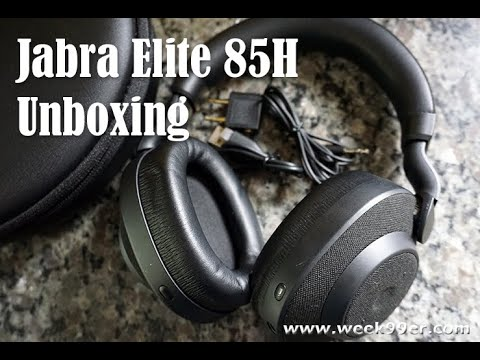 Unboxing the Jabra Elite 85H Headphones - Initial Review #jabraelite85h
