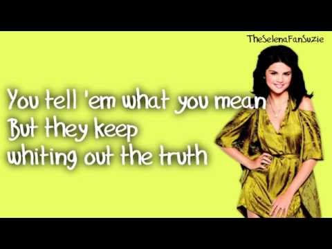 Selena Gomez & The Scene- Who Says with Lyrics on The Screen Official New Full Song HD
