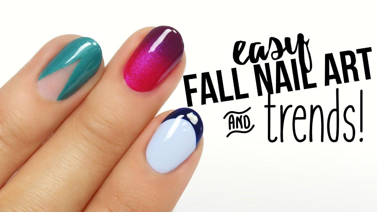 Easy Fall Nail Art & Trends! - YouTube