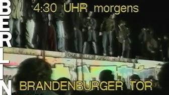 9. November 1989 - Der Mauerfall in Berlin