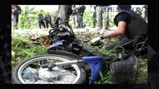 A motorcycle bomb in Pattani