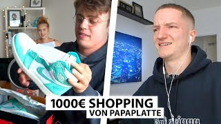Justin reagiert auf Papaplatte's 1000€ Shopping | Reaktion