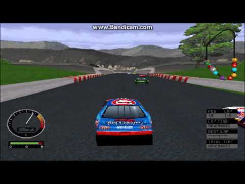 NASCAR Road Racing PC Gameplay (John Andretti) (Bridgeport Speedway) (5 Laps)