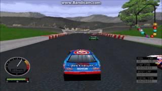 NASCAR Road Racing PC Gameplay (John Andretti) (Bridgeport Speedway) (5 Laps)