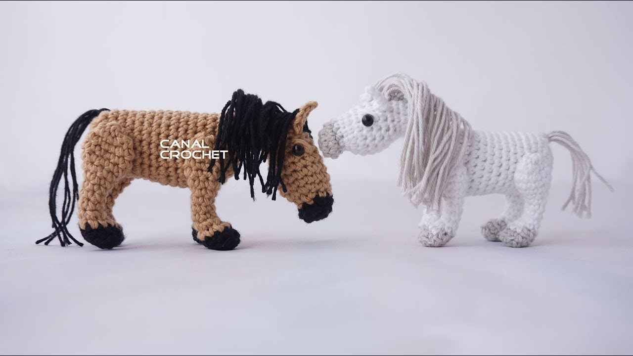 Caballo amigurumi tutorial - YouTube