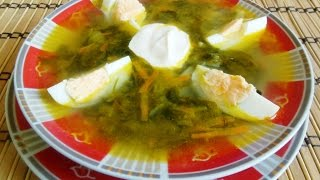 видео  суп из щавеля