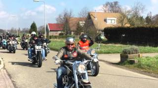 Goodfellas Rotterdam openingsrit 2016 aankomst voor lunch Camping de Quack Hellevoetsluis.