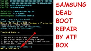 2017 How To Create SDC Files From Firmware BY ATF Box for samsung boot Repair