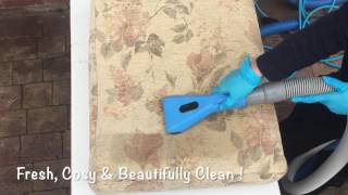 Sapphire Tool in Action - CSB Sofa Cleaning in Cardiff