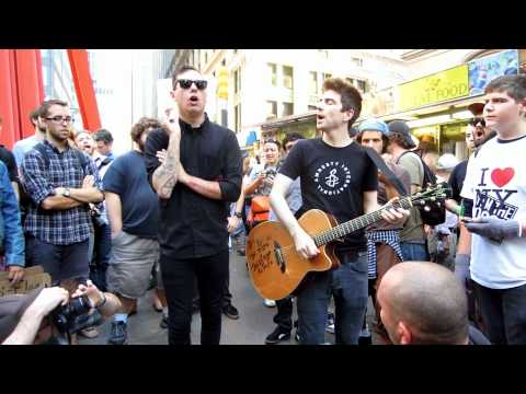 "Justin Sane Chris #2 Anti-Flag ""This is the End"" at Occupy Wall Street"