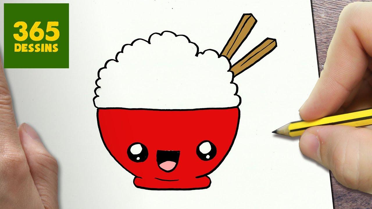 Comment Dessiner Riz Kawaii Etape Par Etape Dessins Kawaii Facile