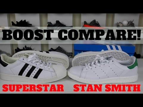 timeless design f32af 250ad ADIDAS STAN SMITH BOOST VS SUPERSTAR BOOST COMPARISON REVIEW! - YouTube