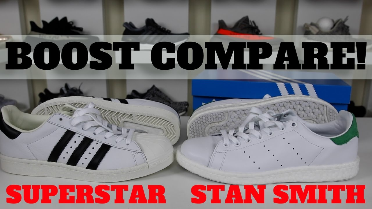 best website 80a90 131c8 ONLY 1 WORTH BUYING ! ADIDAS STAN SMITH BOOST VS SUPERSTAR BOOST COMPARISON  REVIEW!