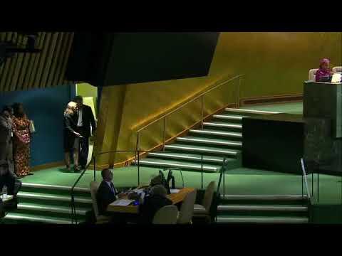 Negara Tuvalu mendukung penentuan nasib sendiri bagi bangsa pap  in UN General Assembly Session 72th