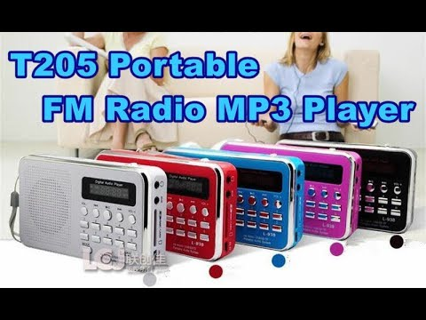 T205 Portable FM Radio MP3 Player