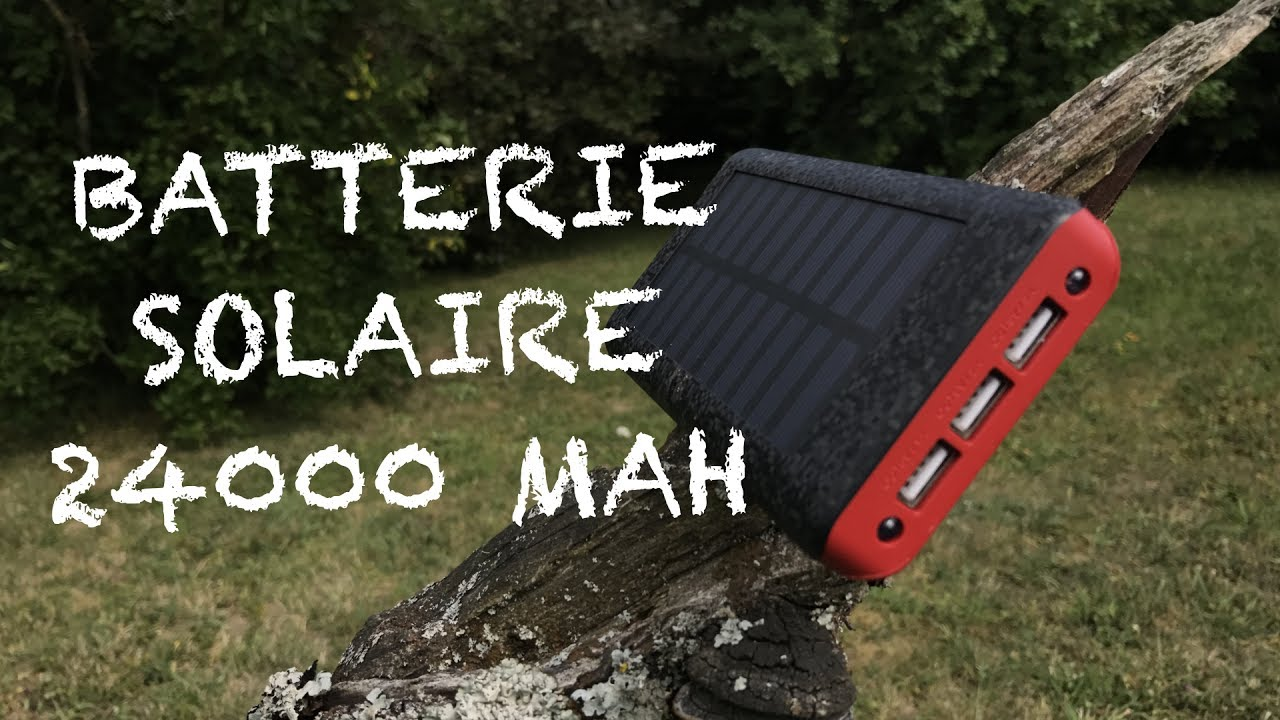 Batterie Solaire Externe 24000 mAh avec son mini ventilateur - YouTube